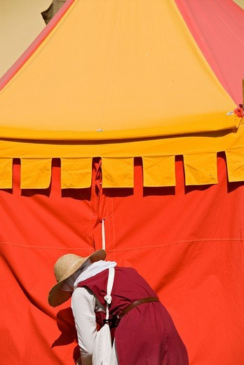 Stock Photo: 3153-802962 medieval tent