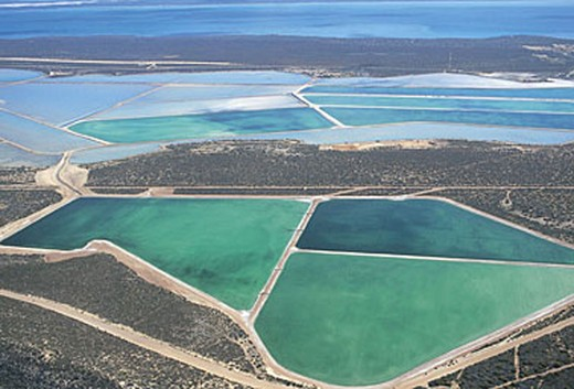 Stock Photo: 3153-803639 australia, shark bay, saltworks