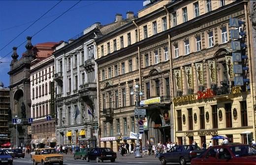 russia, saint petersburg, nevsky prospekt : Stock Photo