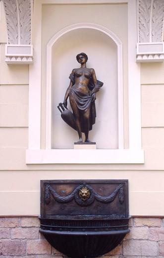 europe, latvia, riga, statue : Stock Photo
