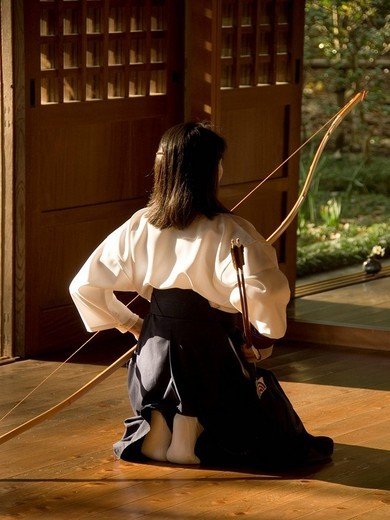 Stock Photo: 3153-804959 asia, japan, honshu, kamakura, kyudo