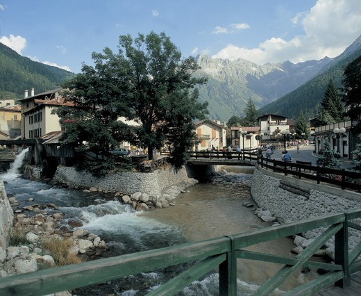 italy, lombardia, ponte di legno : Stock Photo