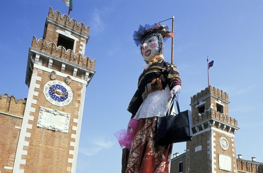 Stock Photo: 3153-805842 tradictional puppet at arsenale, venice, italy