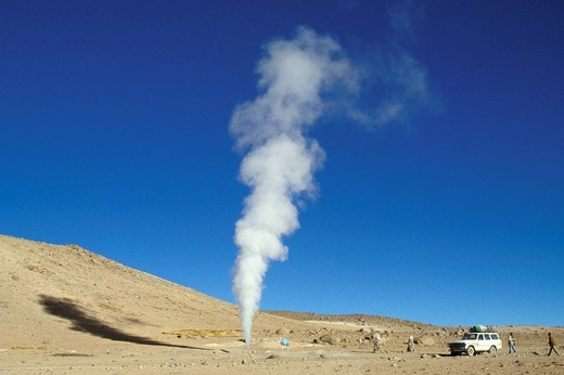 bolivia, geyser : Stock Photo