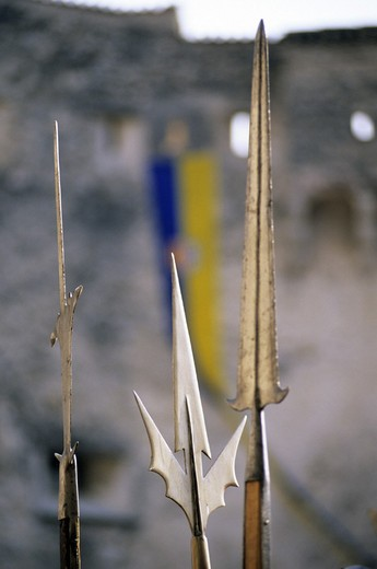 italy, besenello, castel beseno, historical recalling : Stock Photo