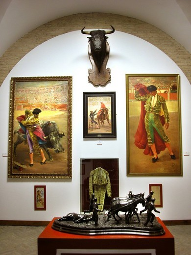 Stock Photo: 3153-807025 bullfighting museum, plaza de toros, sevilla, andalusia, spain