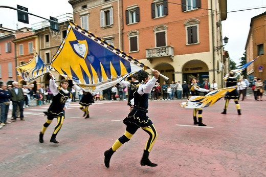 Stock Photo: 3153-807150 historical recalling, san nicolas day, castelfranco emilia, emilia romagna, italia