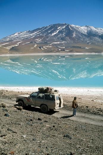 Stock Photo: 3153-807941 bolivia, laguna colorada