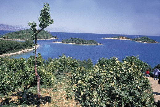 albania, tirana, view of the coast of saranda : Stock Photo