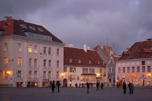 estonia, tallinn, raekoja platz : Stock Photo