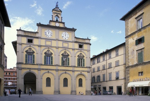 matteotti square, citta di castello, italy : Stock Photo