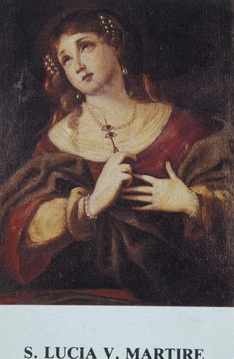 holy picture:st. lucy martyr, studio, italy : Stock Photo
