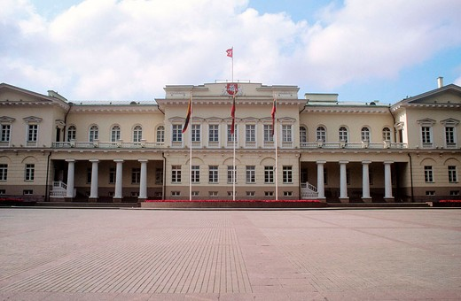 europe, lithuania, vilnius, the presidential palace : Stock Photo