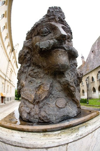 europe, romania, transylvania, sighisoara, vlad tepes statue : Stock Photo