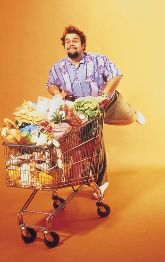 man, doing the shopping : Stock Photo