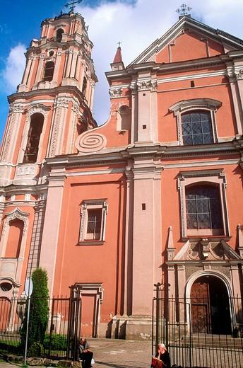 Stock Photo: 3153-812197 europe, lithuania, vilnius, church, outdoors