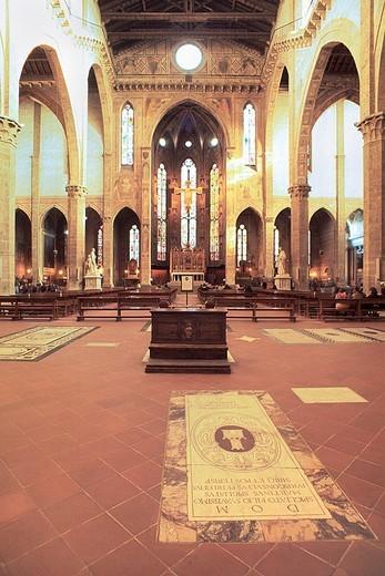 Stock Photo: 3153-812407 europe, italy, tuscany, florence, basilica di santa croce