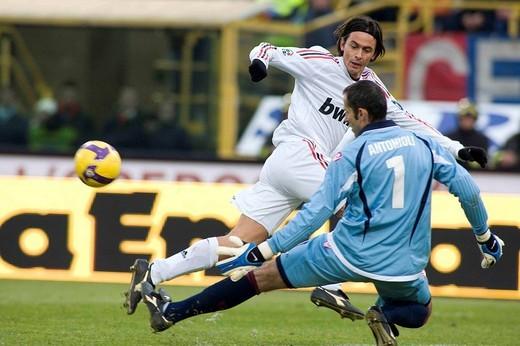 Stock Photo: 3153-814917 filippo inzaghi ,bologna 2009 ,serie a football championship 2008/2009 ,bologna_milan