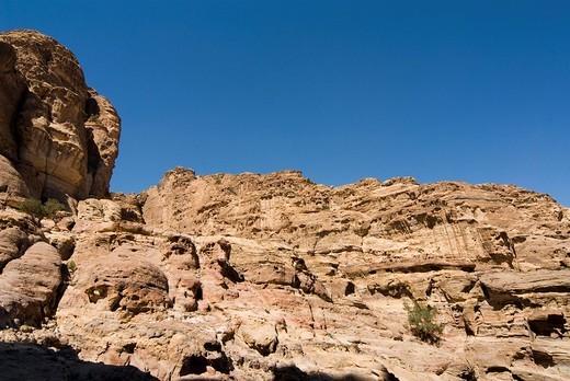 sentiero per il monastero, montagna di petra, wadi musa, petra, giordania : Stock Photo