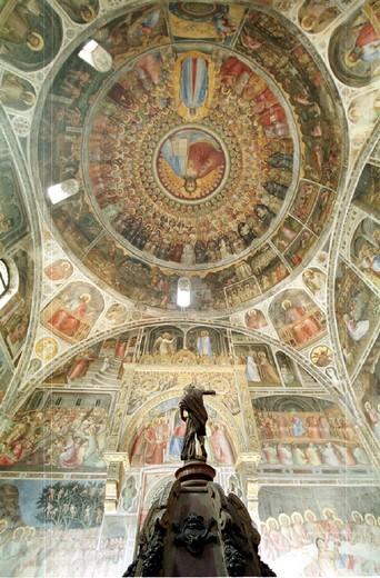 italy, veneto, padova, baptistery, altar : Stock Photo