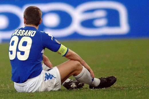 antonio cassano,genova 28_11_2008 ,uefa football cup 2008_2009,sampdoria_stoccarda 1_1,photo alessandro pintimalli/markanews : Stock Photo