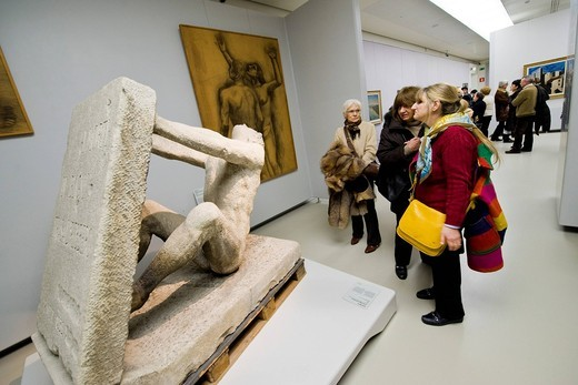 Arturo Martini sculpture, Museum of the twentieth century, Novecento museum, Milan, italy : Stock Photo