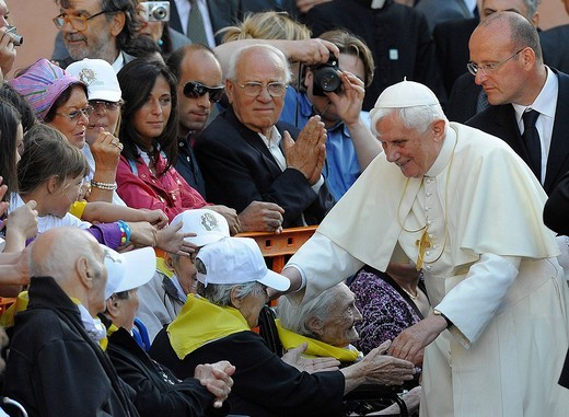 papa benedetto XVI : Stock Photo