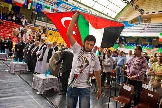 festival di solidarietà con il popolo palestinese, freedom flotilla, milano 2010 : Stock Photo
