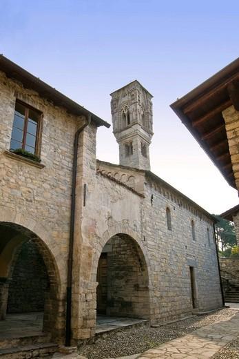 Stock Photo: 3153-823781 Santa Maria Maddalena church, Ossuccio, Como lake, Italy. Santa Maria Maddalena church, Ossuccio, Como lake, Italy