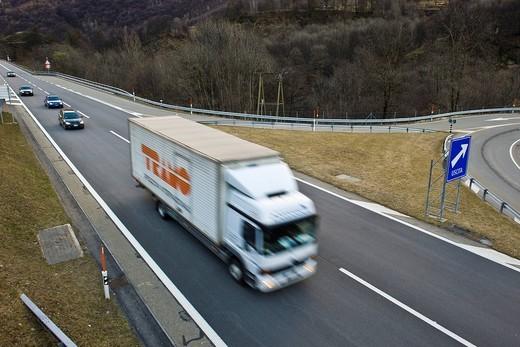 San Bernardino highway, Canton Ticino, Switzerland. San Bernardino highway, Canton Ticino, Switzerland : Stock Photo