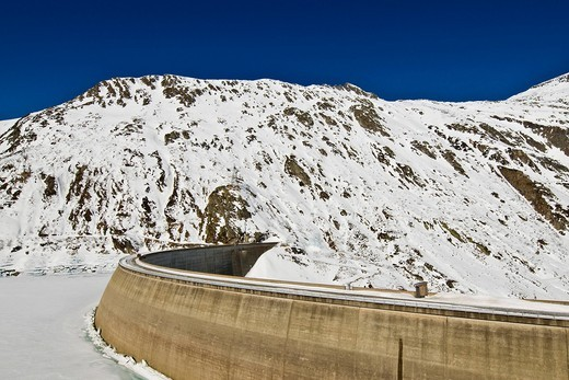 Lucomagno pass, St. Maria dam, Switzerland. Lucomagno pass, St. Maria dam, Switzerland : Stock Photo