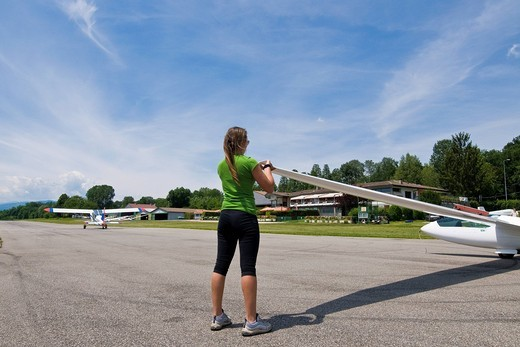 Stock Photo: 3153-824922 Gliders airport Adele Orsi, varese, Lombardy, Italy. Gliders airport Adele Orsi, varese, Lombardy, Italy
