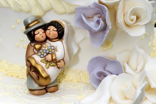 Just married, wedding cake. Just married, wedding cake : Stock Photo