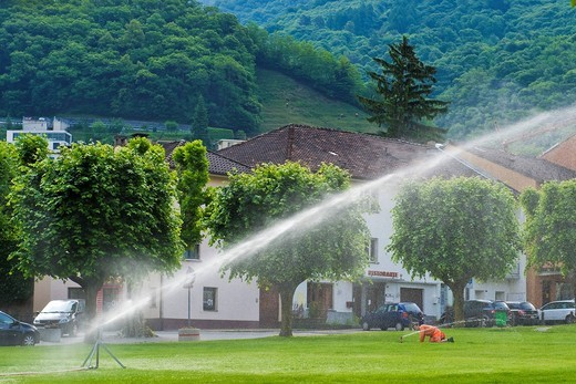 Watering, Giubiasco, Canton Ticino, Switzerland. Watering, Giubiasco, Canton Ticino, Switzerland : Stock Photo