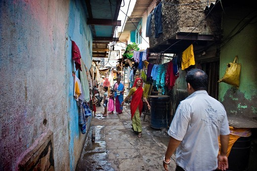 Daily life in the slum near Colaba, Mumbai, India. Daily life in the slum near Colaba, Mumbai, India : Stock Photo