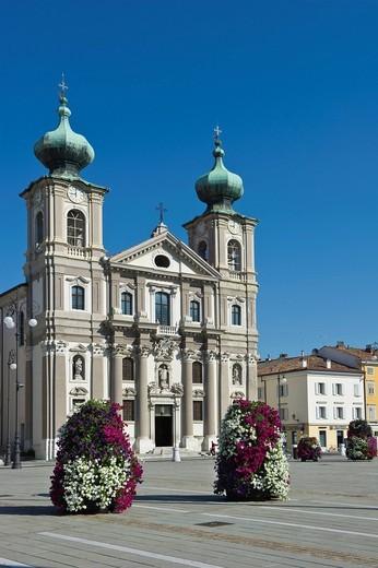 Stock Photo: 3153-831703 sant´ignazio church, gorizia, italy