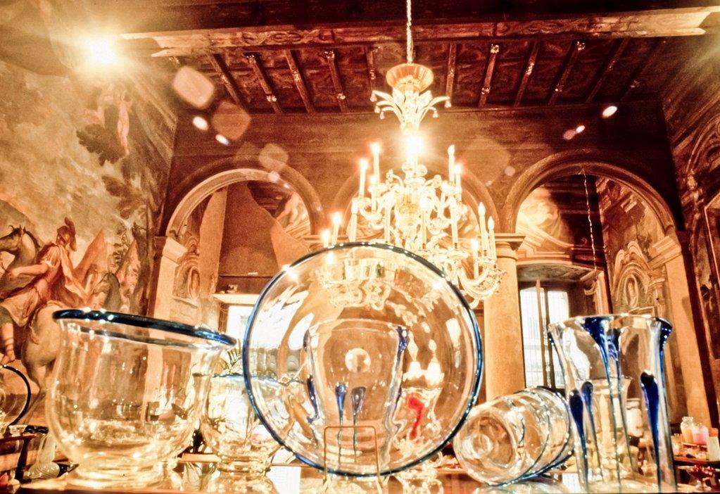 Stock Photo: 3153-832185 lavorazione del vetro a murano, venezia, italia. murano glassware, venice, italy