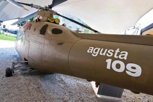 Agusta 109, museo agusta, cascina costa di samarate, italia. Agusta 109, Agusta museum, Cascina Costa di Samarate, Italy : Stock Photo