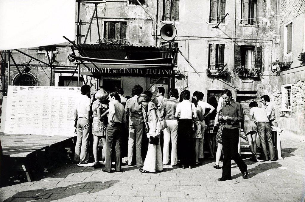 Giornate del cinema a Venezia, 1973. Cinema Days in Venice, 1973 : Stock Photo