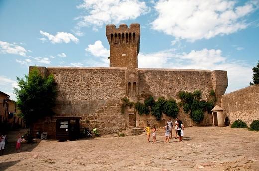 fortezza di populonia, il mastio, toscana, italia. fortress in populonia, tuscany, italy : Stock Photo