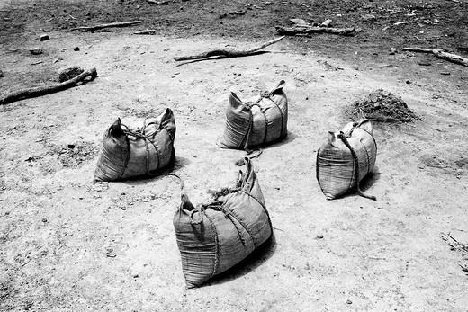 Salt extraction in the El Sod crater, Ethiopia. Salt extraction in the El Sod crater, Ethiopia : Stock Photo