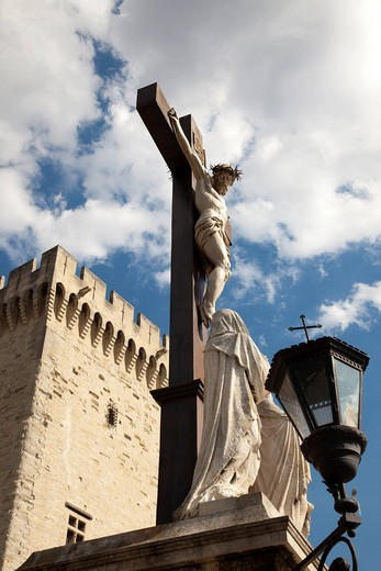 Stock Photo: 3153-840485 cattedrale di notre dame des doms, avignone, francia. notre dame des doms cathedral, avignon, france