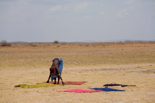Stock Photo: 3153-840673 boab, lago turkana, etiopia, africa. ethiopia, africa