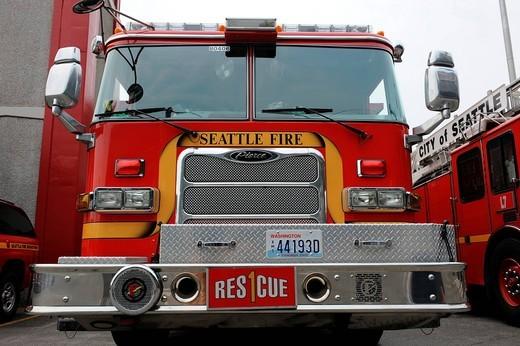 Stock Photo: 3153-840956 vigili del fuoco, seattle fire rescue, seattle, washington, usa