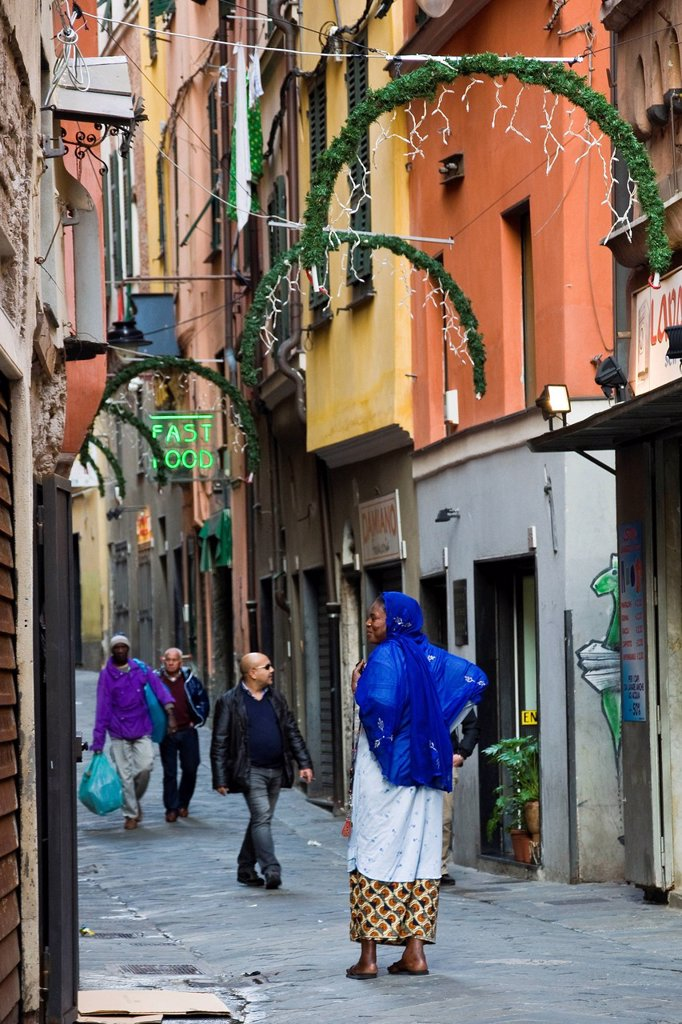 Daily life, Via di PrË, Genoa, Liguria, Italy. Daily life, Via di PrË, Genoa, Liguria, Italy : Stock Photo