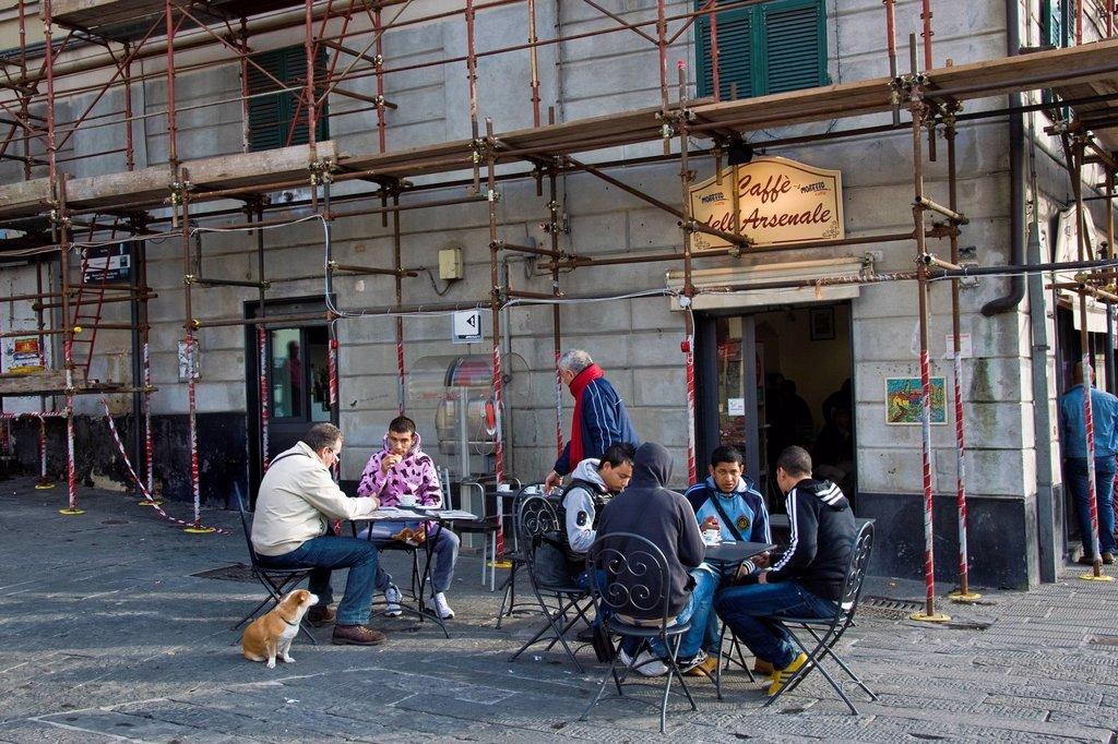 Stock Photo: 3153-841974 Daily life, Genoa, Liguria, Italy. Daily life, Genoa, Liguria, Italy