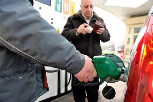 Stock Photo: 3153-843620 stazione di servizio. petrol station