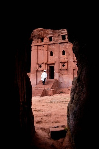 chiesa lalibela, etiopia, africa. lalibela, ethiopia, africa : Stock Photo