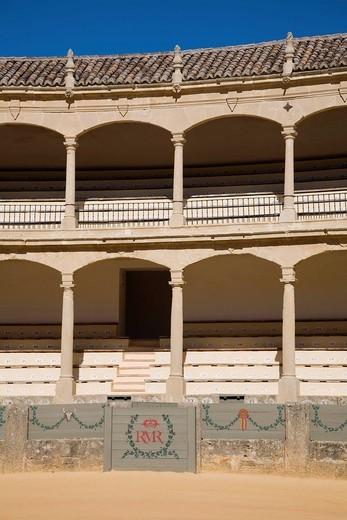 Stock Photo: 3153-844802 arena, ronda, andalusia, spagna. bullfighting arena, ronda, andalucia, spain