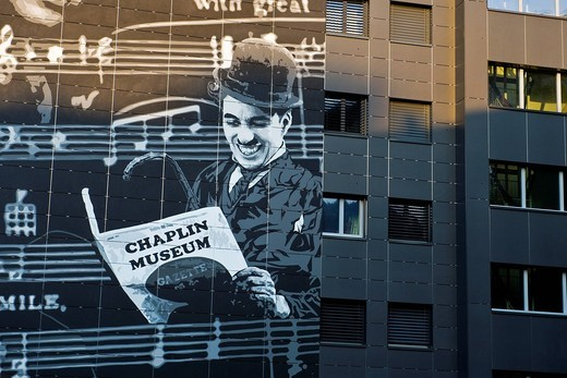 Tribute to Charlie Chaplin, Vevey, Switzerland. Tribute to Charlie Chaplin, Vevey, Switzerland : Stock Photo